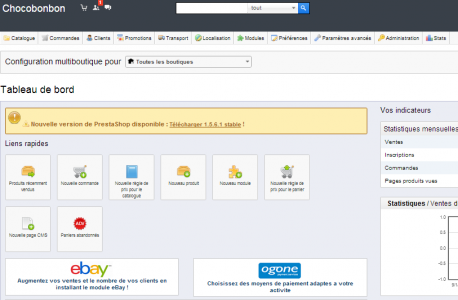 formation ecommerce prestashop backoffice