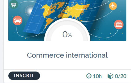 La formation « commerce international » est en ligne !